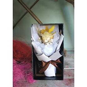 Hộp hoa hồng khô tự nhiên 100%- hoa hồng ướp khô- bó hoa mini đáng yêu- Quà tặng tình yêu, quà tặng độc đáo các dịp lễ