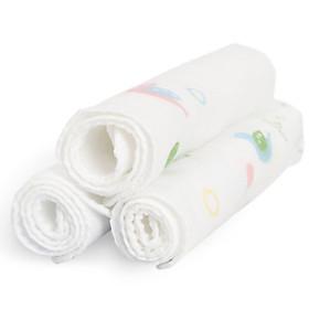 Khăn Tay Trẻ Em Cotton Cotton Age (Pur Cotton) (32x32cm) (Túi 3 Cái)