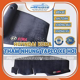 Thảm chống nóng taplo cho xe HYUNDAI KONA chất liệu Nhung Lông cừu 3 lớp chống trượt