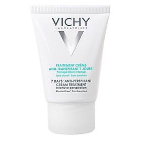 Kem Khử Mùi Giúp Khô Thoáng Vùng Da Dưới Cánh Tay Chuyên Sâu Vichy 7 Days Anti-Perspirant Cream Treatment Intensive Perspiration (30ml)