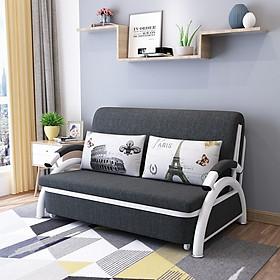 Sofa kiêm giường ngủ 2 trong 1 màu kem và xám ngẫu nhiên