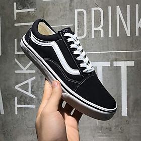 Giày thể thao nam nữ đen vạch trắng đế cao su chống trơn siêu bền, giày sneaker Unisex