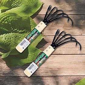 Bộ 2 dụng cụ làm vườn cầm tay bằng cán gỗ - Hàng Nội Địa Nhật