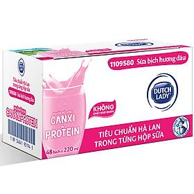 Thùng 48 Bịch Sữa Tiệt Trùng Dutch Lady Cô Gái Hà Lan Dâu (48X220ml)