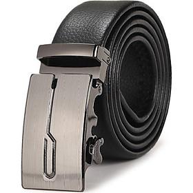 Dây nịt nam, thắt lưng nam dây da cao cấp khóa tự động mặt thiết kế nam tính - TOPEE TLC02