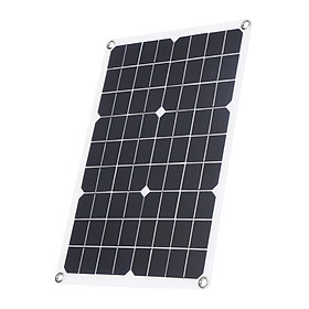 30W D C 9V/18V Flexible Solar Panel with 50A L-ED Display Controller Kit Set with USB/ Type C Interface & Car C-harger