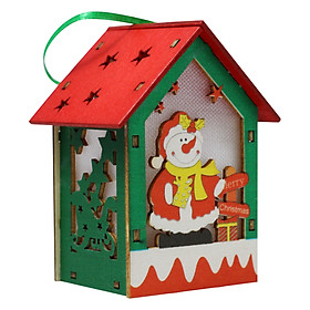 Quà Tặng Nhà Gỗ Trang Trí Giáng Sinh - Người Tuyết Áo Đỏ