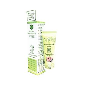 Kem Đánh Răng Thảo Dược Aimthai Organic Toothpaste Classic chiết xuất tinh dầu thảo dược hữu cơ giúp trắng răng, thơm miệng, ngăn ngừa mảng bám-Công thức Class