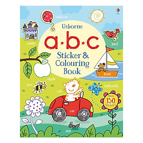Usborne abc Sticker and Colouring Book