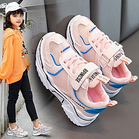 Giày thể thao bé gái dạng lưới thoáng mát , êm chân , giày đi học cho bé gái - Mẫu mới HQ053