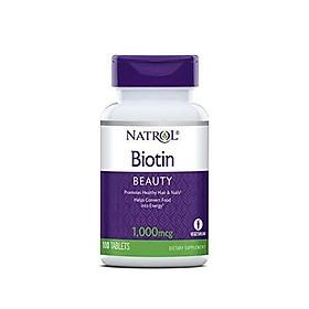 Natrol Biotin Tablets, 1,000mcg, 100 Count (Pack of 2)