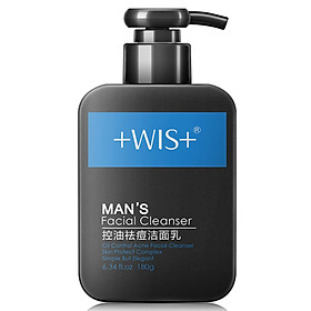 WIS oil control acne cleanser 180g (men cleanser remove blackhead oil replenishment)