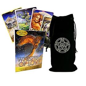 Combo Bộ Bài Bói Tarot Whispers of Love Oracle Cards New Cao Cấp  và Túi Nhung Đựng Tarot