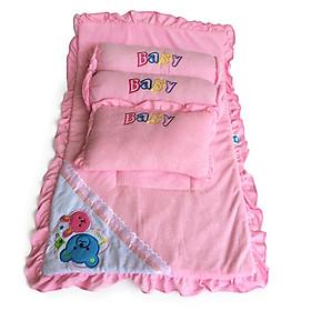 Bộ mền gối baby thun lông cho bé