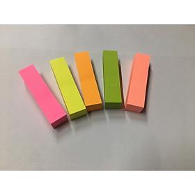 Combo 5 tập giấy nhớ 5 màu giấy kt 12x50mm