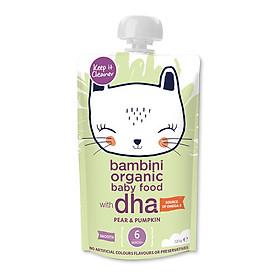 Hỗn hợp lê, bí ngô xay nhuyễn Bambini Organic 120g - Từ 6 tháng tuổi