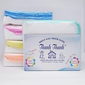 Gói 50 Khăn sữa vải gạc Thanh Thanh Nhỏ 3 lớp 25x30cm 100% cotton
