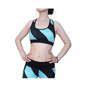 Bộ đồ tập gym nữ, đồ tập yoga hàng cao cấp nhập khẩu Yoga Suit 2 màu xanh, đen DT03