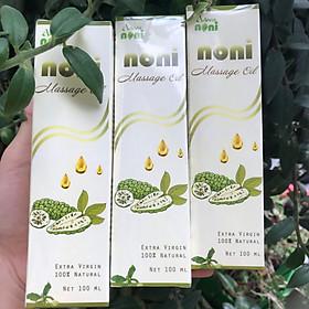 SET 3 chai Dầu Trái nhàu Adeva Naturals (100 ml/ 1 chai) - Noni massage oil - Dưỡng ẩm cho da mềm mại, chống lão hóa, cho da đều màu - Được người Hàn quốc ưa chuộng