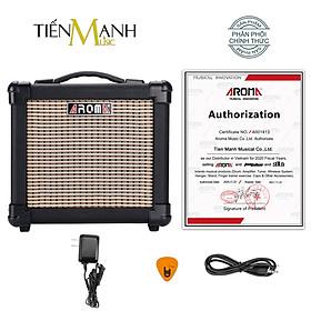 Amply Aroma AG-10 BK - Loa Ampli Guitar AG10 Amplifier Hàng Chính Hãng - Kèm Móng Gẩy DreamMaker