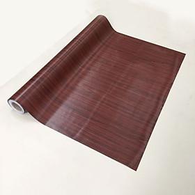 Giấy dán tường giả gỗ màu nâu đỏ - khổ 1,2m - có sẵn keo