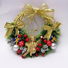 Vòng Nguyệt Quế trang trí Giáng Sinh đường kính 20cm