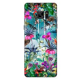 Ốp lưng nhựa cứng nhám dành cho Samsung Galaxy Note FE in hình Nền Hoa