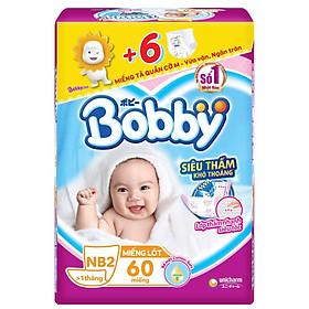Miếng Lót Sơ Sinh Bobby Fresh Newborn 2 - 60 (60 Miếng) + Tặng Thêm 6 Miếng Tã Quần (Size M)