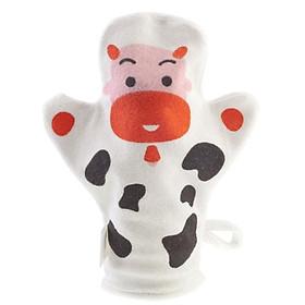 Găng Tay Tắm Bé Farlin - Hình Bò Sữa