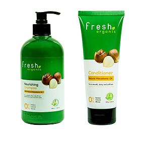 Dầu gội fresh Organic Macadamia oil (500g) + Tặng 1 dầu xả fresh Macadamia (180g)