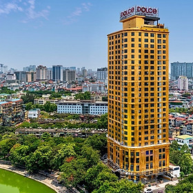 Dolce Hanoi Golden Lake 5* - Khách Sạn Dát Vàng Bên Hồ Giảng Võ, Ăn Sáng, Hồ Bơi Vô Cực Ngắm Toàn Cảnh Thủ Đô