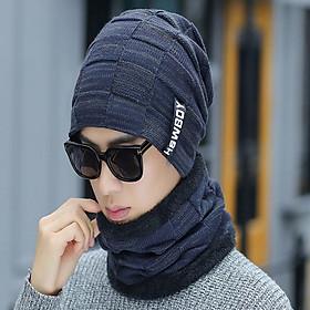 ComBo Mũ Len Kèm Khăn Cổ Hàn Quốc