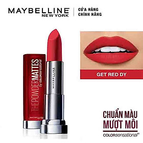 Son Lì Siêu Nhẹ Môi Maybelline New York Color Sensational Powder Matte 3.9g - Màu Đỏ 02 Get Red Dy-2