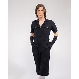 Jumpsuit Nữ Unisex_ Yvette LIBBY N'guyen Paris_WRIGHT FLYER_Màu Đen (Black), Vải lanh cao cấp viền cotton lụa Ý