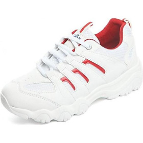 Giày Sneaker Thể Thao Nữ Mẫu Mới Yamet Shop SN56199 Trắng Phối Đỏ