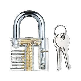 Ổ khóa thực hành trong suốt có thể nhìn thấy cho người mới bắt đầu Padlocks Lock Picking Tool Practice