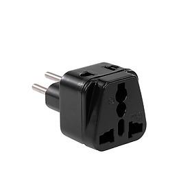 High Quality Swiss Embedded Conversion Plug 5-hole Adaptor Plug Swiss Plug to Universal Socket Travel Plug Adapter Black