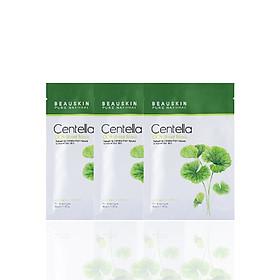 Combo 3 mặt nạ dưỡng ẩm, làm trắng và mờ thâm sẹo Beauskin Cica Centella - Hàn Quốc Chính Hãng