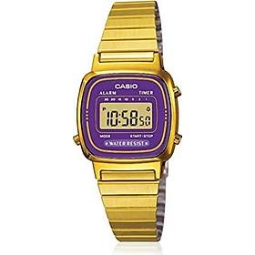 Casio #LA670WGA-6 Women's Gold Tone Chronograph Alarm LCD Digital Watch