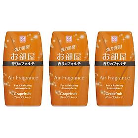 Combo 3 hộp khử mùi làm thơm phòng Air Fragrance hương bưởi 200ml nội địa Nhật Bản
