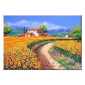 Tranh Treo Tường ĐỒNG HOA TƯƠI ĐẸP Q6D8 - 32 (35 x 50 cm) Thế Giới Tranh Đẹp