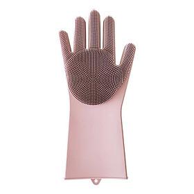 Găng tay rửa bát silicon tạo bọt cao cấp 1 đôi - Màu ngẫu nhiên