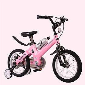 Xe đạp cho bé A283 full size, cho bé trai gái từ 2-8 tuổi, khung thép siêu bền, trang bi phanh đĩa cơ bánh trước và sau, bánh phụ, giảm sóc thể thao, nhiều màu cho bé