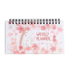 Sổ Kế Hoạch Tuần Cùng Chú Thỏ Giữa Mùa Hoa Anh Đào Sakura (Weekly Planner)