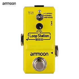 ammoon Loop Station Mini Guitar Looper Effect Pedal 10 Minutes Recording Time 3 Working Modes True Bypass Full Metal