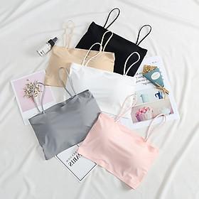 Bộ 3 áo bra 2 dây nữ quây ngang chất su đúc mịn mát - áo ống nữ có mút đệm mỏng có thể tháo rời - Br06