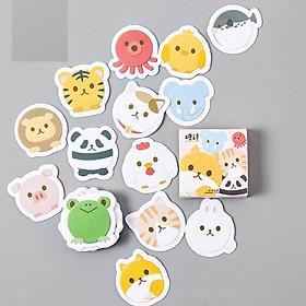 Hộp 45 Miếng Dán Sticker Trang Trí Muông Thú