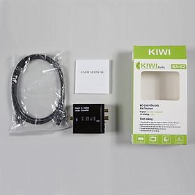 Bộ chuyển âm thanh TV 4K quang optical sang audio AV ra amply + Cáp optical Kiwi KA02 - Hàng chính hãng