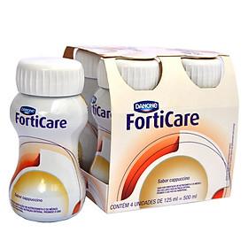 Sữa nước cao năng lượng FortiCare Cam Chanh 125ml lốc 4 chai- cho bệnh nhân ung thư