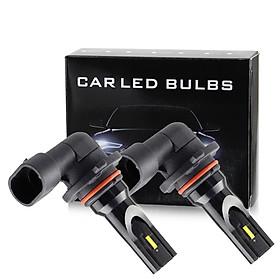2Pcs Car LED Foglight 9005/HB3 9006/HB4 H10 1860 Light Source LED Front Lamp